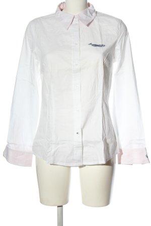 Arqueonautas Long Sleeve Shirt white printed lettering casual look