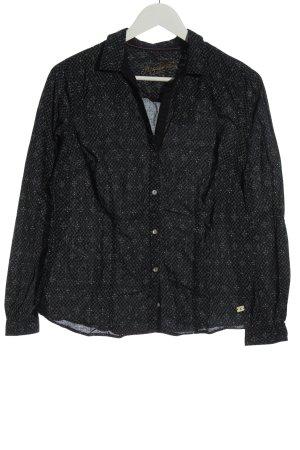 Arqueonautas Shirt met lange mouwen zwart volledige print zakelijke stijl