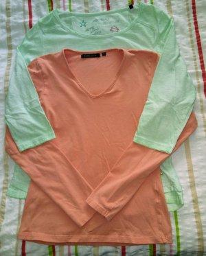 Arqueonautas Top à manches longues abricot-turquoise