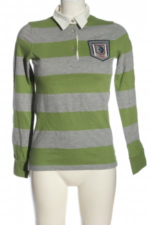 Arqueonautas Polo Shirt light grey-green flecked casual look
