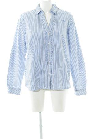 Arqueonautas Rüschen-Bluse blau-weiß Streifenmuster Casual-Look
