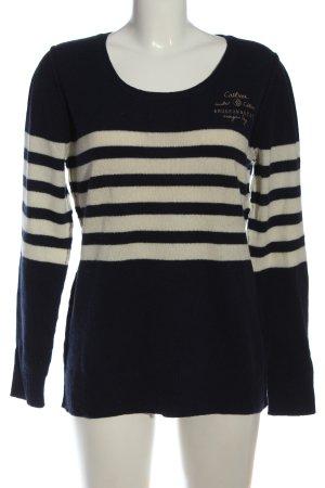 Arqueonautas Crewneck Sweater blue-white striped pattern casual look