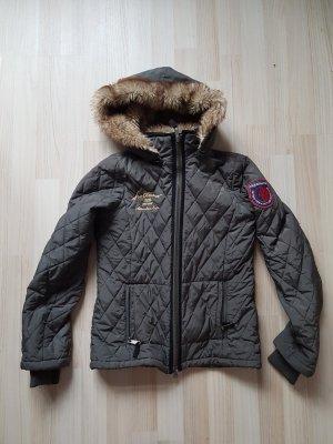 Arqueonautas Stepp-Jacke khaki mit Kapuze