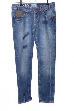 Arqueonautas Jeans coupe-droite bleu style décontracté