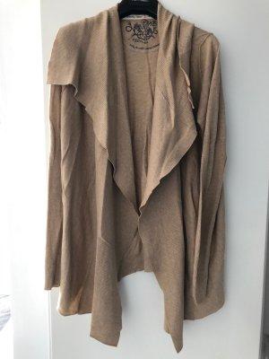 Arqueonautas Veste en tricot beige-brun sable coton