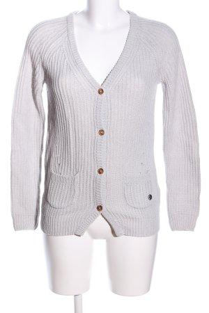 Arqueonautas Veste en tricot blanc cassé torsades style décontracté
