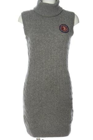 Arqueonautas Gebreide jurk lichtgrijs kabel steek casual uitstraling