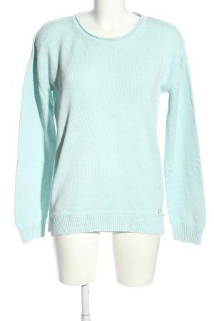 Arqueonautas Pull tricoté turquoise style décontracté
