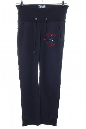 Arqueonautas Sweat Pants blue embroidered lettering casual look