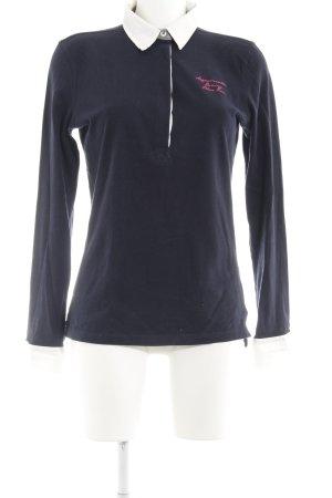 Arqueonautas Sweatshirt schwarz-wollweiß Schriftzug gestickt schlichter Stil