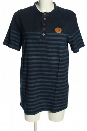 Arqueonautas T-Shirt blau Allover-Druck Casual-Look