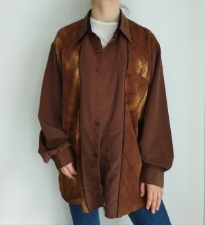 Art braun XXL langarm Hemd True vintage Bluse oversize pulli pullover top Shirt