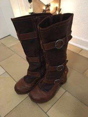 The Art Company Platform Boots brown-dark brown