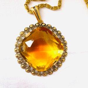 Breloczek złoto-jasny pomarańczowy