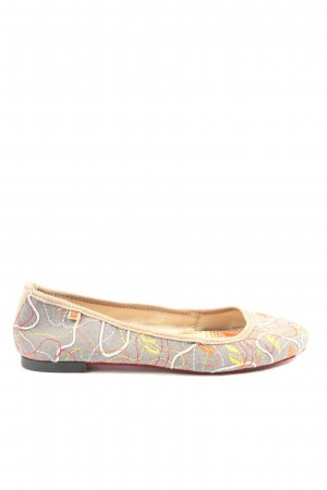 Art Foldable Ballet Flats abstract pattern casual look