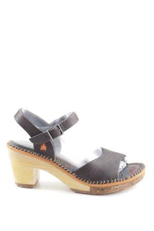 Art High Heel Sandal black-cream casual look