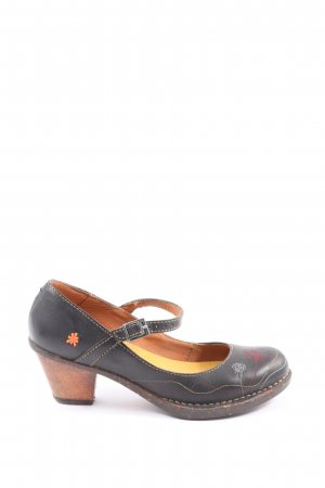 Art Hochfront-Pumps grafisches Muster Casual-Look