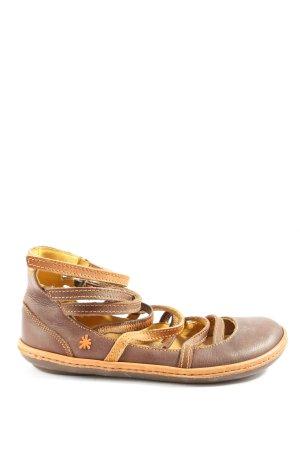 Art Wygodne sandały brązowy-jasny pomarańczowy W stylu casual