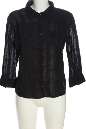 Art Langarmhemd schwarz Casual-Look