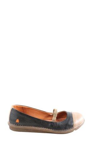 Art Chaussures Mary Jane noir-blanc cassé style décontracté