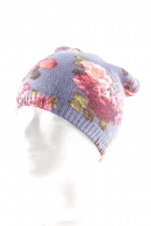 Knitted Hat flower pattern casual look