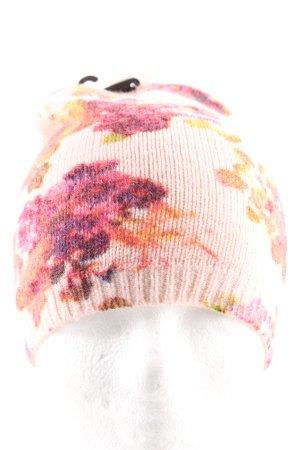 Chapeau en tricot motif abstrait style décontracté