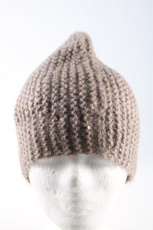 Chapeau en tricot brun style décontracté