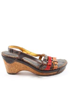 Art Plateauzool sandalen veelkleurig casual uitstraling