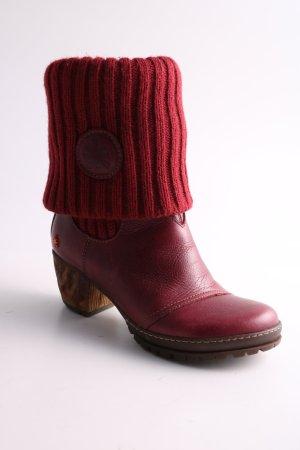 Art Schlüpf-Stiefeletten rot extravaganter Stil