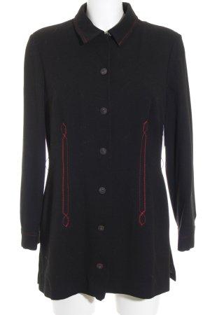 Art To Be Manteau court noir-rouge style classique