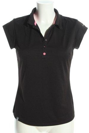 Artengo Polo-Shirt schwarz Casual-Look