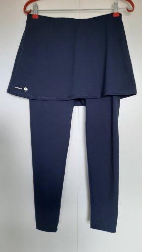 Artengo Sport Leggings mit Rock fürs Tennis inkl. Tennistaschen blau Gr. XS