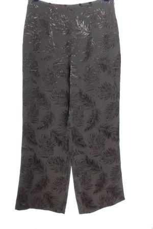 Artigiano Pantalon taille haute gris clair-bronze imprimé allover