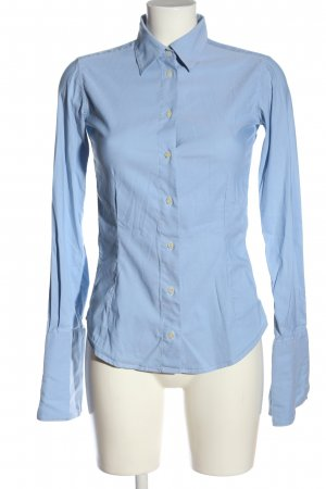 Artigiano Shirt met lange mouwen blauw zakelijke stijl