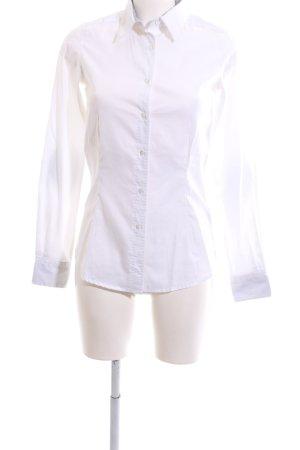 Artigiano Chemise à manches longues blanc-gris clair style d'affaires