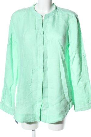 Artigiano Linen Blouse turquoise casual look