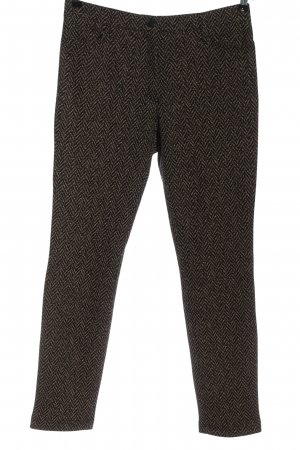 Artigiano Pantalone jersey nero-color carne motivo astratto stile casual