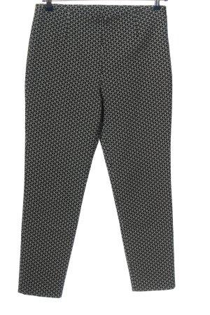 Artigiano Pantalon en jersey noir-blanc imprimé allover style décontracté