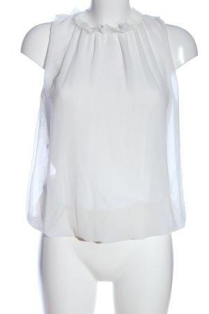 Artigli Bluzka bez rękawów biały W stylu casual