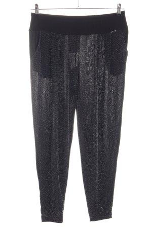 Artigli Baggy Pants schwarz-silberfarben Glitzer-Optik