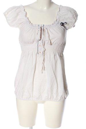 Artigli Bluzka typu carmen biały W stylu casual