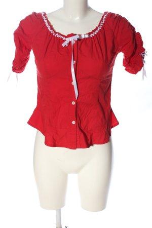 Artigli Bluzka z falbankami czerwony-biały W stylu casual