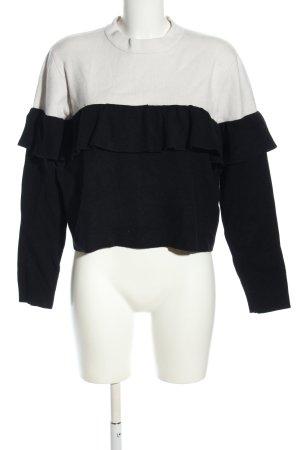 ARTLOVE Paris Oversized Pullover schwarz-weiß Casual-Look