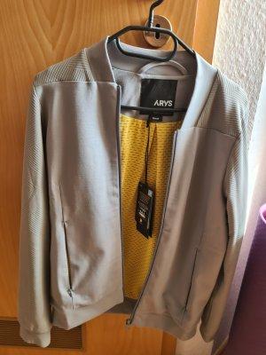 ARYS Blouson universitaire gris clair-jaune