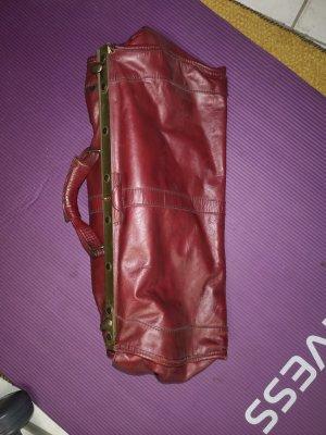 Arzttasche Leder dunkelrot gross vintage