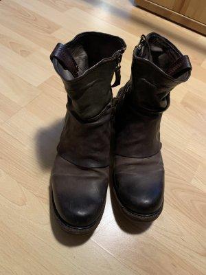 AS 98 Korte laarzen donkerbruin-donkergroen