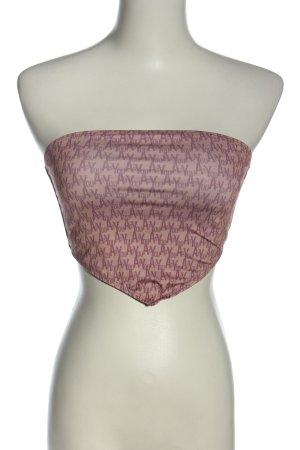 as you Hauts épaule nues rose-blanc cassé imprimé avec thème