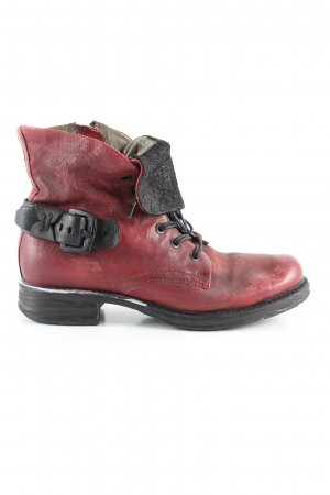 AS98 Ankle Boots rot-schwarz Casual-Look