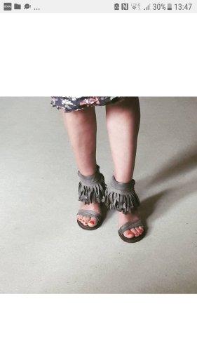 AS98 High Heel Sandal grey brown-green grey