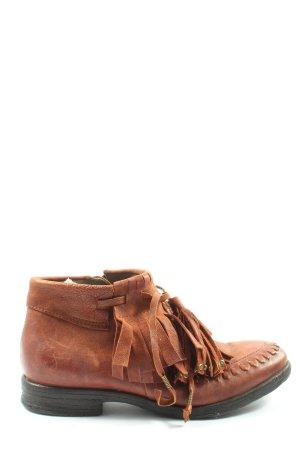 AS98 Stivaletto con zip marrone elegante